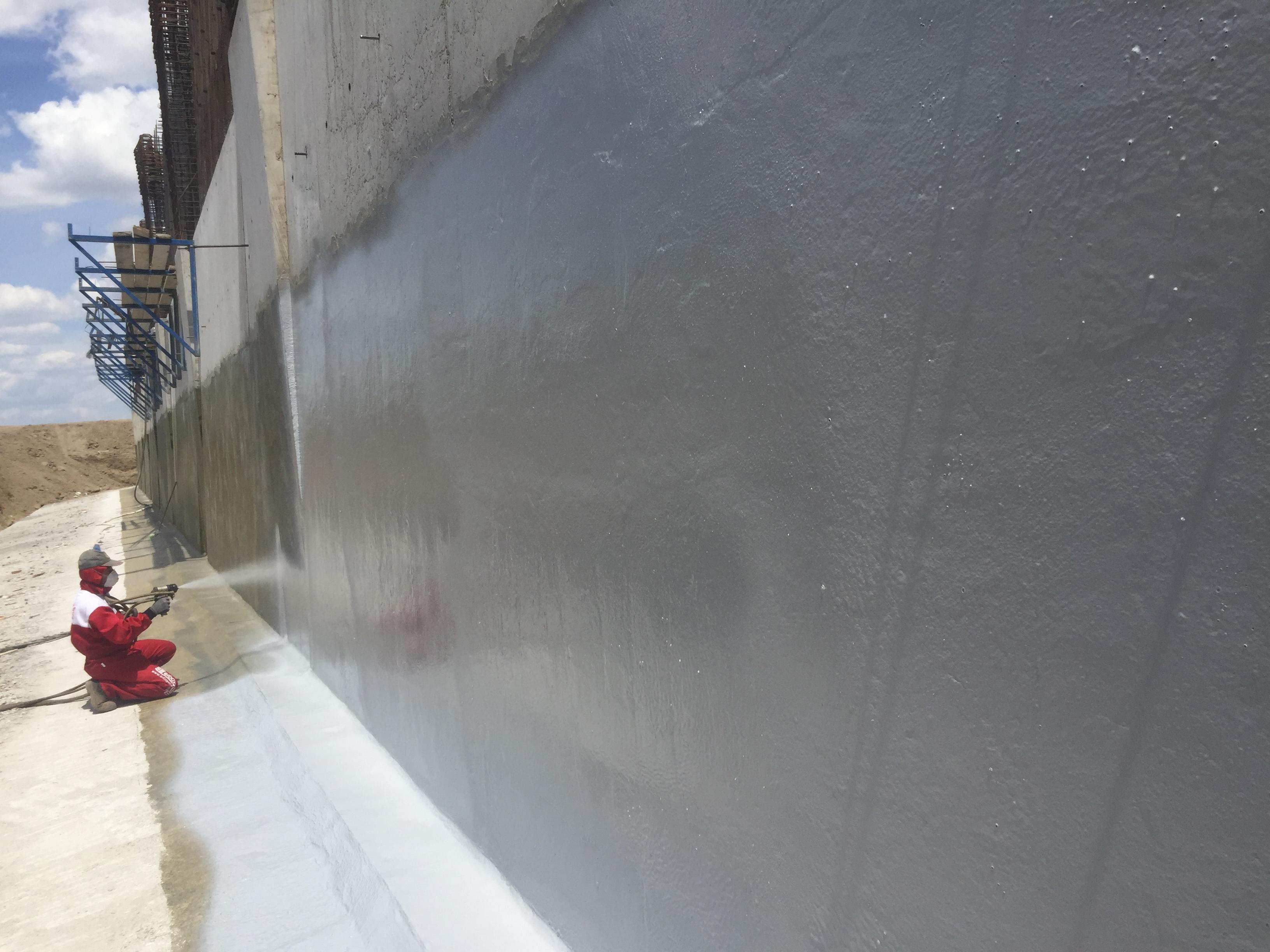 Beton yüzeyine nem önleyici polyurea su yalıtımı