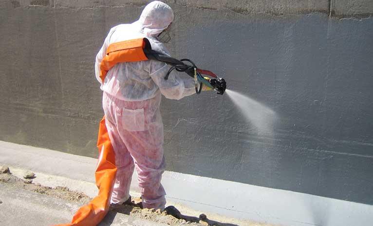 Beton yanma ve çatlakların tamirinde polyurea su yalıtımı
