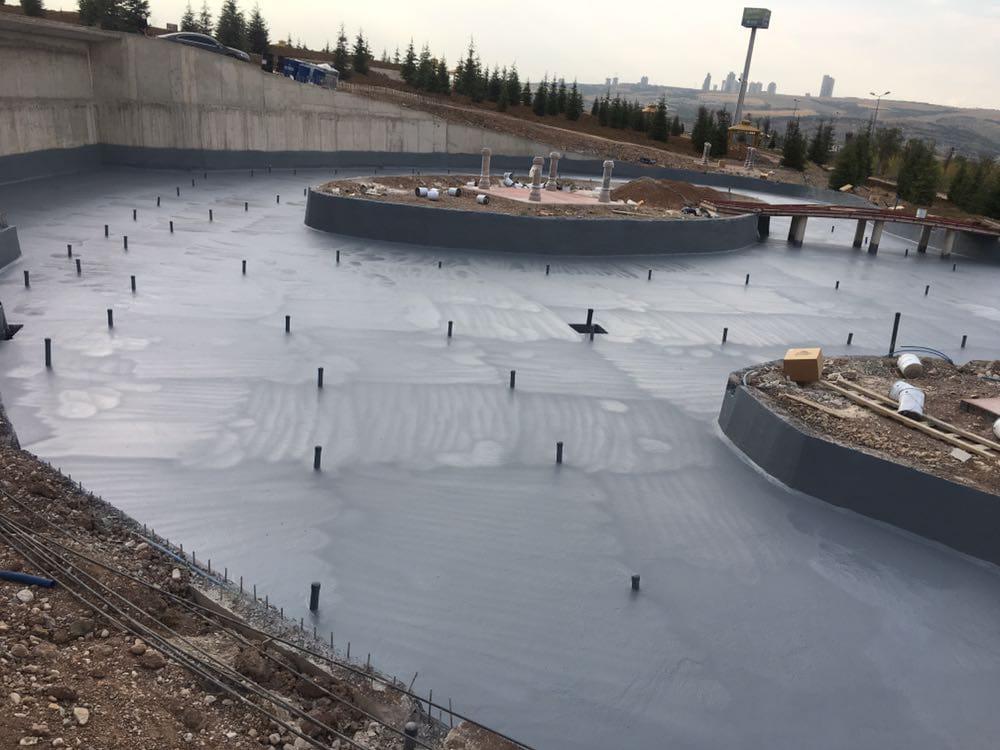 Açık teras kaplamaları Polyurea su yalıtımı